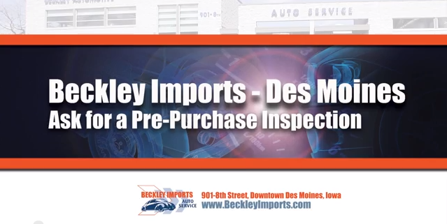 pre-purchase inspection for bmw mercedes audi land rover des moines iowa